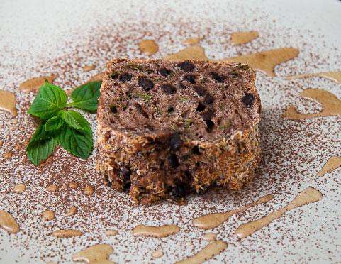 キューバミントとラムのチョコケーキ